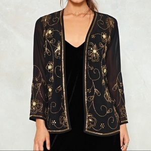 Nasty Gal Embellished Sheer Jacket